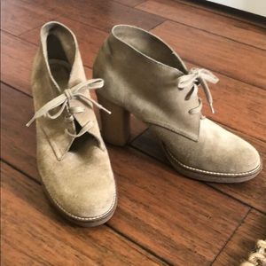 J.Crew tan leather booties size 8